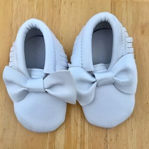 Leather toddler moccasins